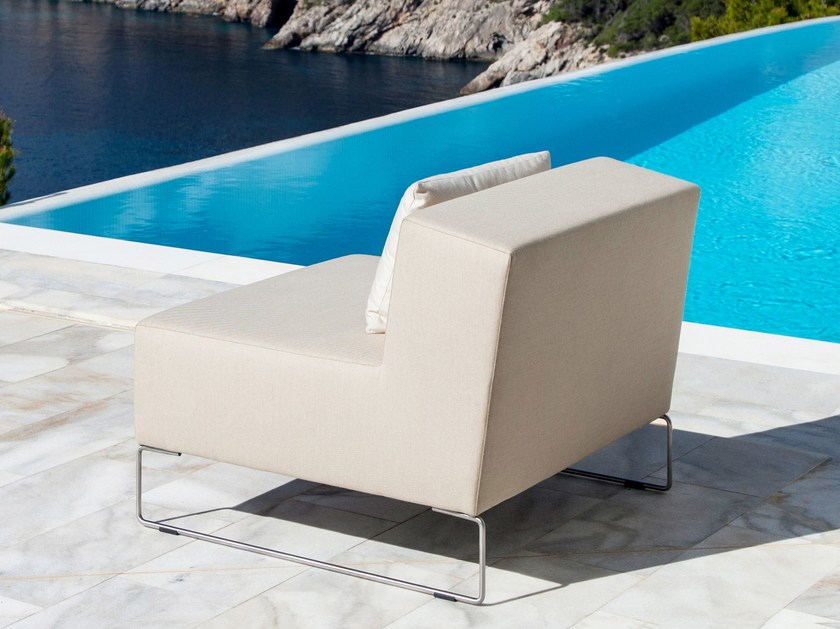 Upholstered garden armchair JAM | Armchair - April Furniture