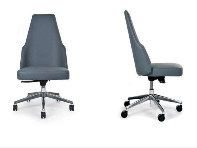 Swivel high-back chair with 5-spoke base MIA OFFICE | Chair by Riccardo Rivoli
