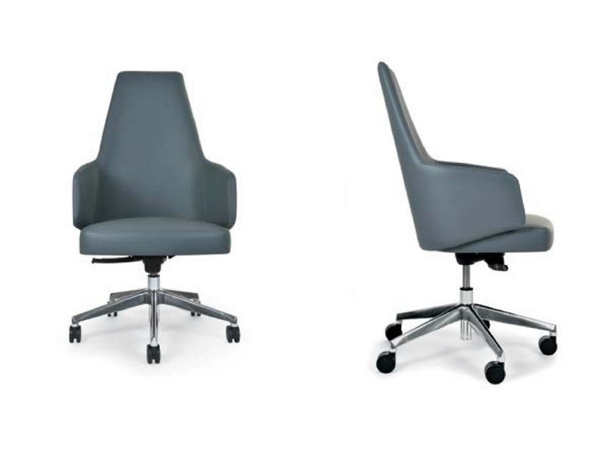 Swivel chair with 5-spoke base with armrests MIA OFFICE | Chair with armrests - Riccardo Rivoli Design