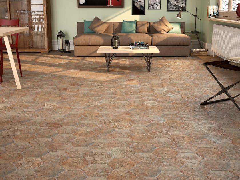Ceramic flooring with stone effect MUGA 16,3x18,6 - Carmen Ceramic Art