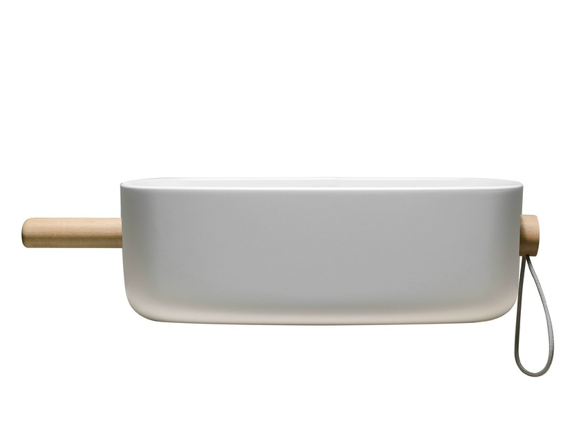 Oval single washbasin BOUNCE PAN - EVER by Thermomat Saniline