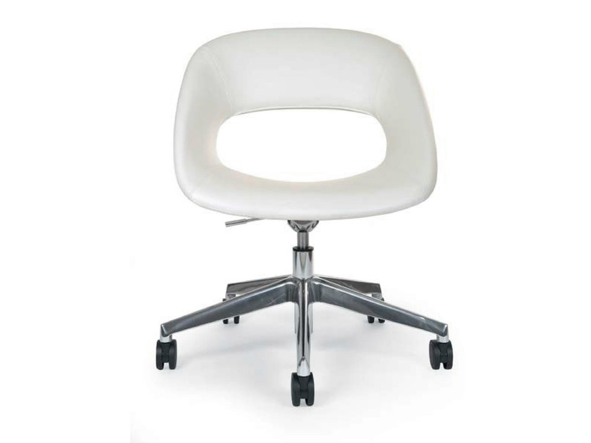 Swivel chair with 5-spoke base with casters AREA VIP OFFICE - Riccardo Rivoli Design