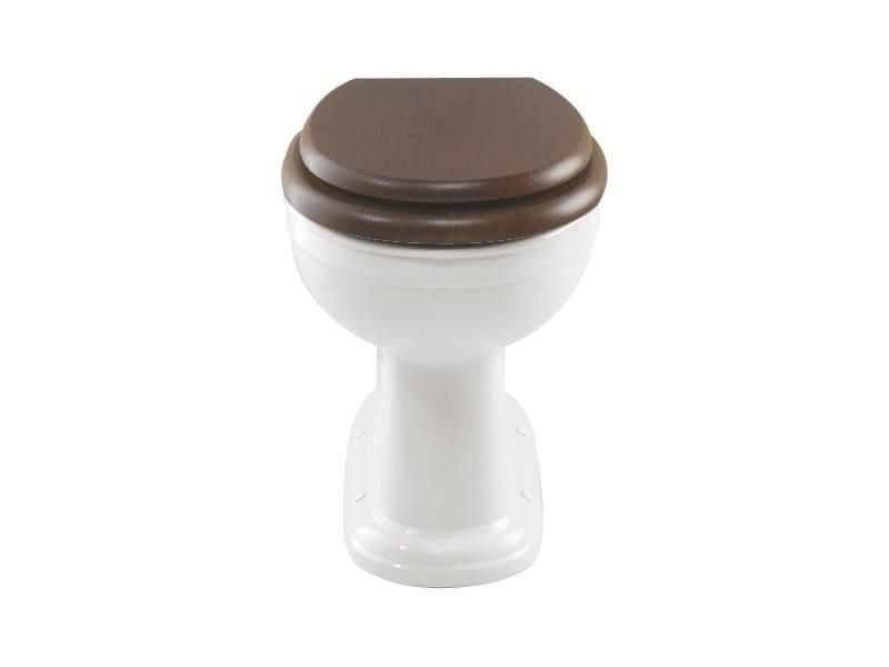 Classic style mahogany toilet seat Mahogany toilet seat - GENTRY HOME