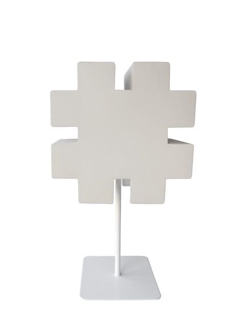 Fabric floor lamp TYPOGRAPHIA HASH - TABISSO