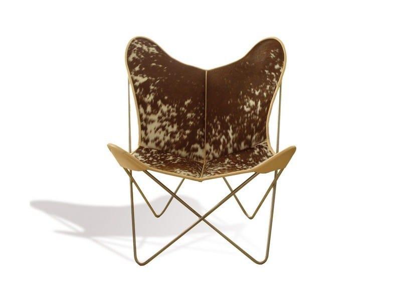 Cowhide armchair HARDOY BUTTERFLY CHAIR ORIGINAL COWHIDE - WEINBAUM