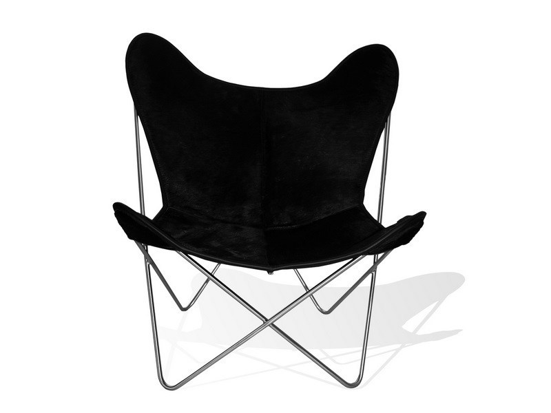 fauteuil en peau de vache hardoy butterfly chair original. Black Bedroom Furniture Sets. Home Design Ideas