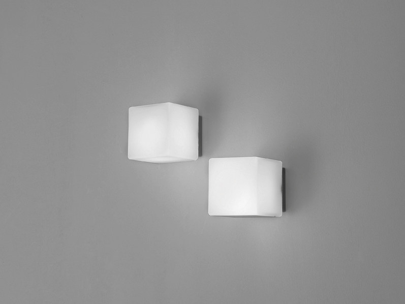 Glass wall lamp CUBIS | Wall lamp - Ailati Lights