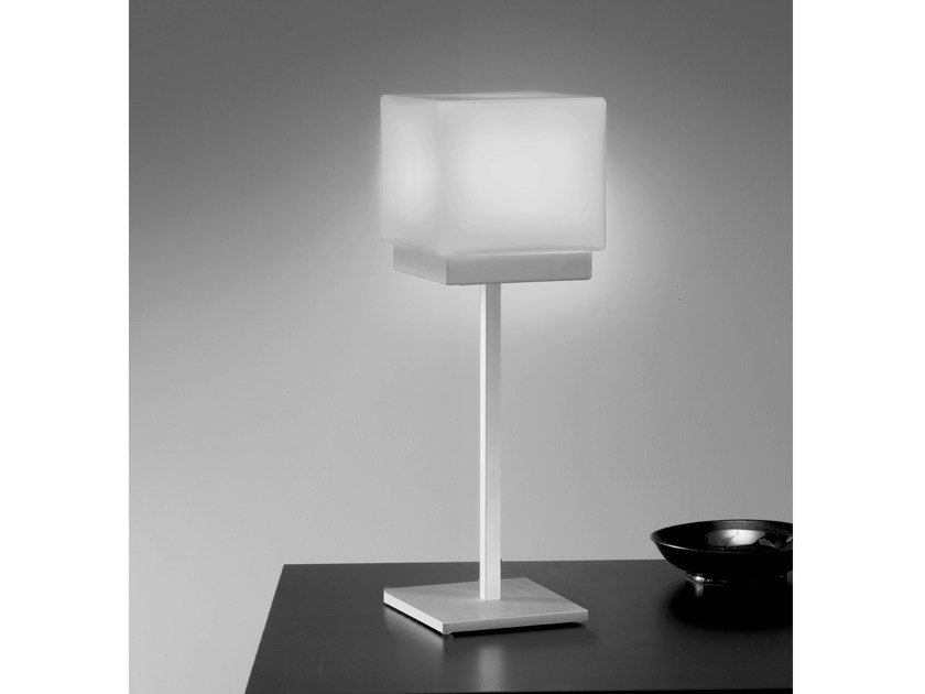 Glass table lamp CUBIS | Table lamp - Ailati Lights