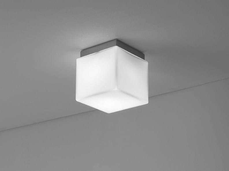 Glass ceiling lamp CUBIS | Ceiling lamp - Ailati Lights