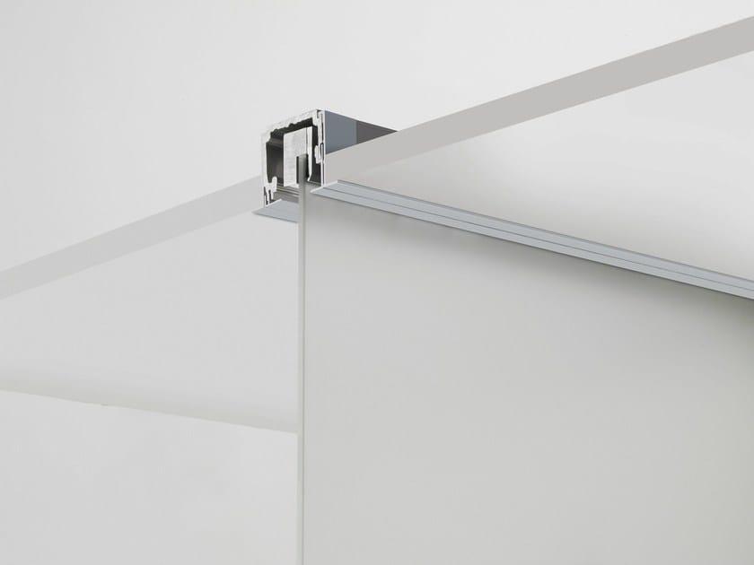 Metal sliding door track V-7100 by Metalglas Bonomi
