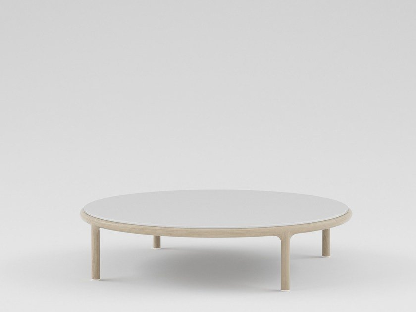 Low round wooden coffee table CAMEO | Round coffee table - PIAVAL