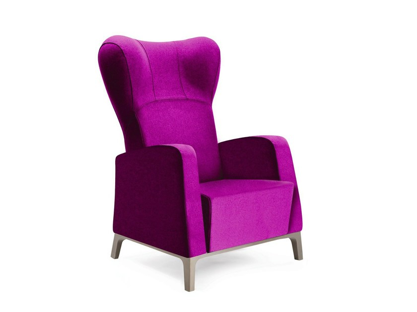 Upholstered high-back fabric armchair MAMY | High-back armchair - PIAVAL