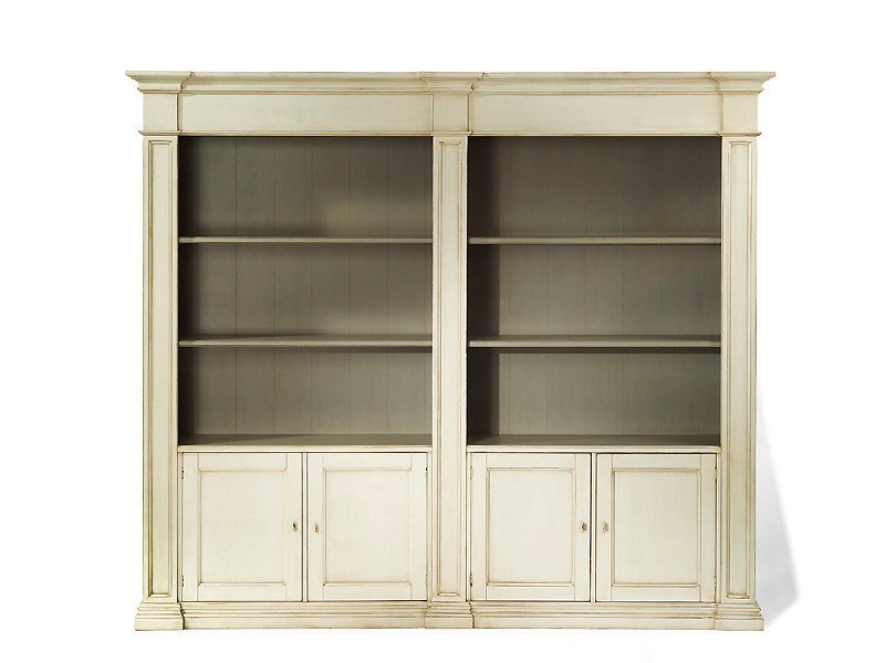 Wooden highboard with doors BOSTON | Wooden highboard by MARIONI