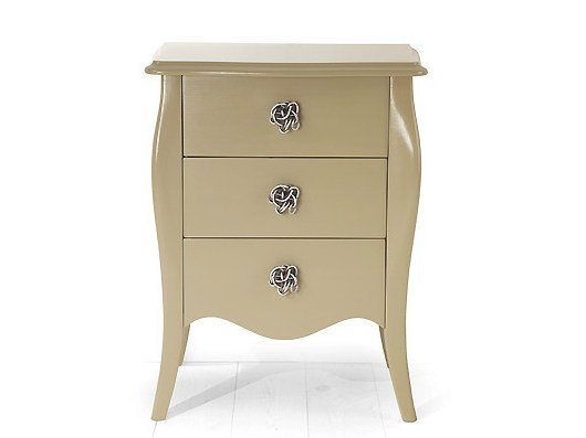 Wooden bedside table with drawers FES | Wooden bedside table - MARIONI
