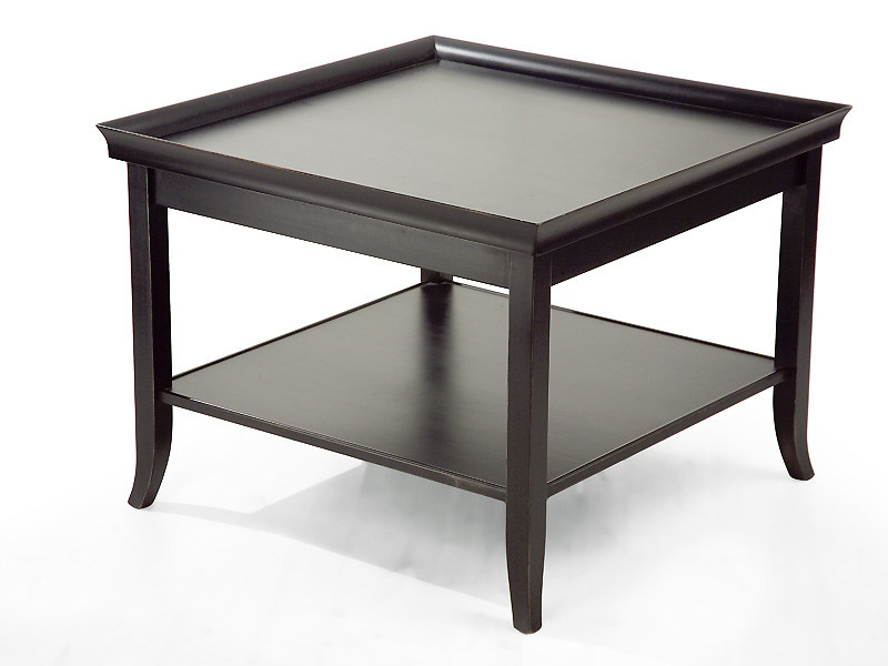 Wooden coffee table with integrated magazine rack for living room ZEN | Square coffee table - MARIONI