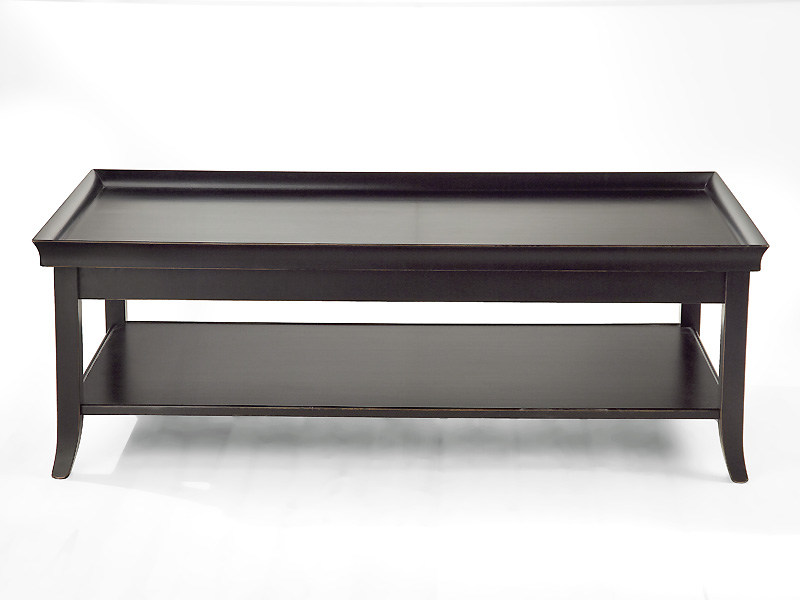 Wooden coffee table with integrated magazine rack for living room ZEN | Rectangular coffee table by MARIONI