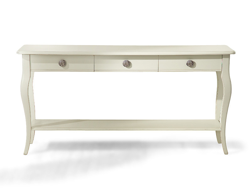 Rectangular wooden console table with drawers EYE | Wooden console table - MARIONI