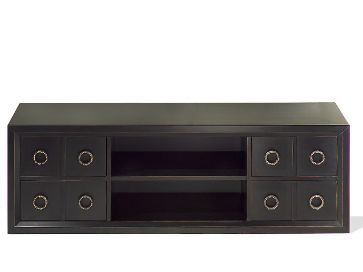 Low wooden TV cabinet KIEL | Wooden TV cabinet by MARIONI
