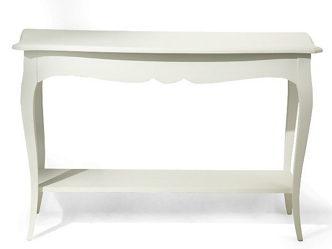 Rectangular wooden console table BLADE | Wooden console table - MARIONI
