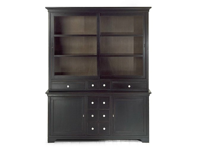 Wooden highboard with doors ASPEN | Highboard - MARIONI