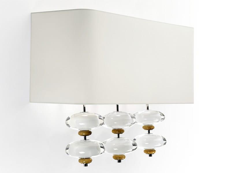 Indirect light crystal wall light STONE | Wall light - MARIONI