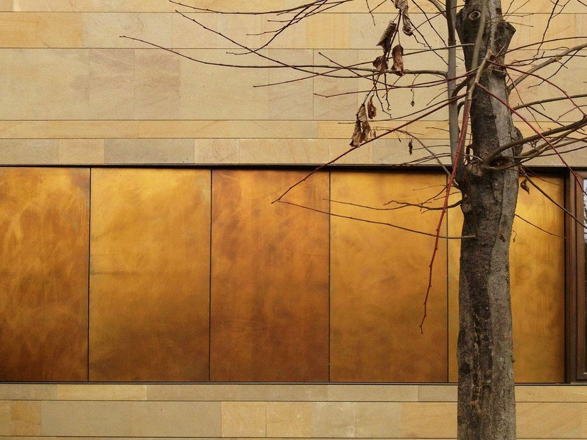 Metal sheet and panel for facade TECU® Design_brownished - KME Architectural Solutions
