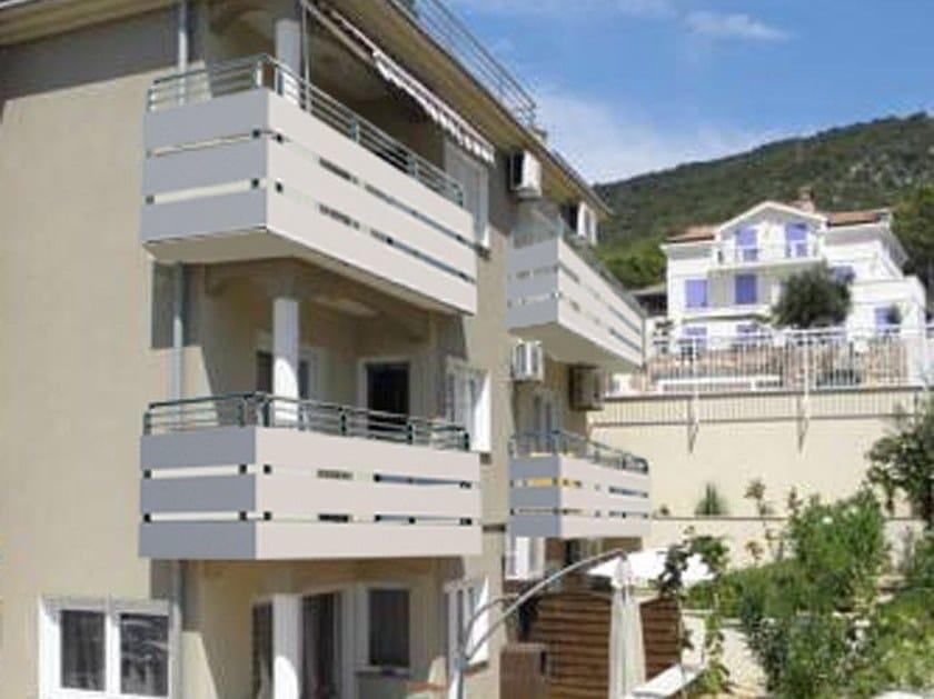 Parapetto in alluminio parapetto a pannelli aluscalae - Barriere antirumore per terrazzi ...