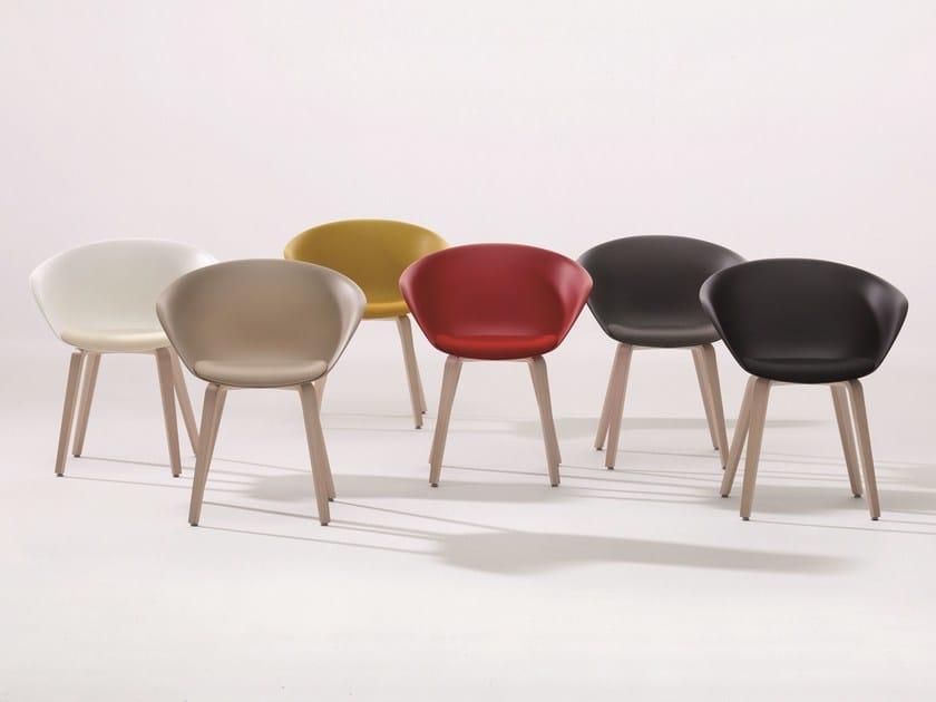 Ergonomic polypropylene chair DUNA 02 | Chair - Arper