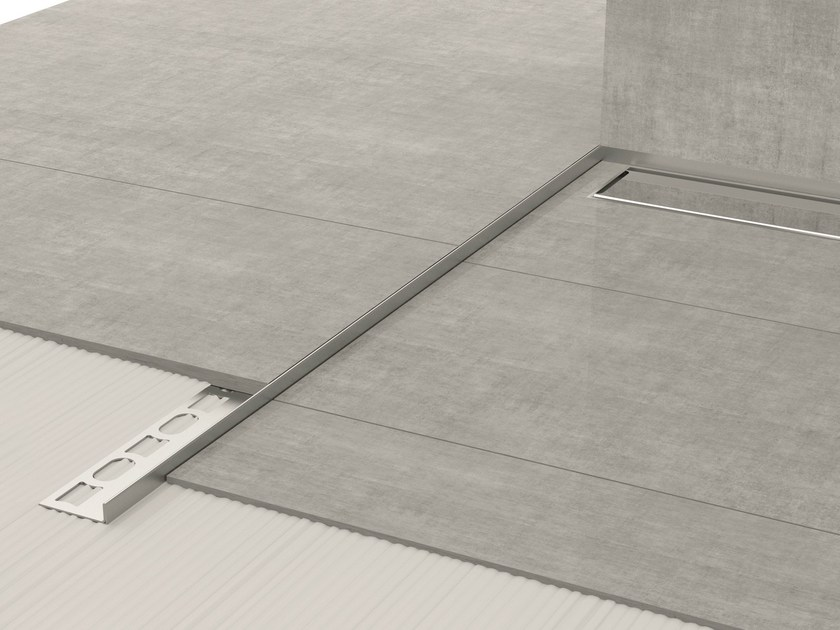 Stainless steel edge profile for floors GLASS PROFILE GPS8 - PROFILPAS