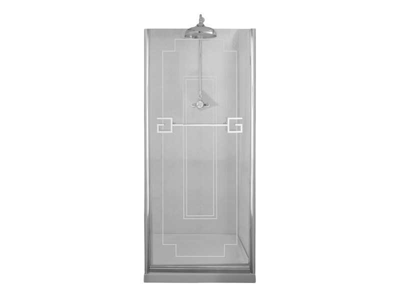 Classic style crystal shower cabin with hinged door ATHENA | Shower cabin - GENTRY HOME