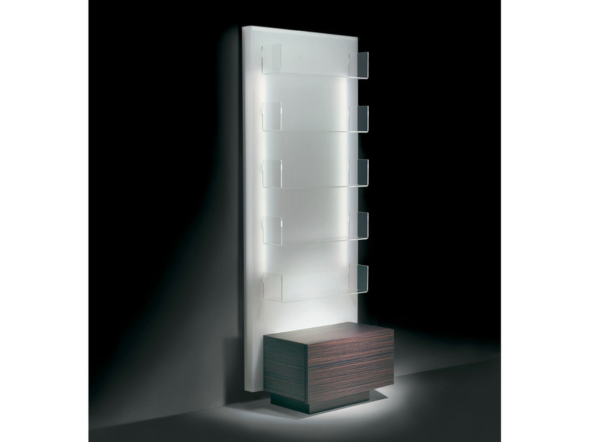 Wall-mounted salon display unit with light GLOWALL DISPLAY ST - Gamma & Bross