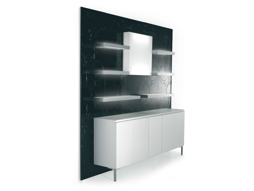 Wall-mounted one-sided salon display unit 5D5B2M94M61L | Retail display unit - Gamma & Bross