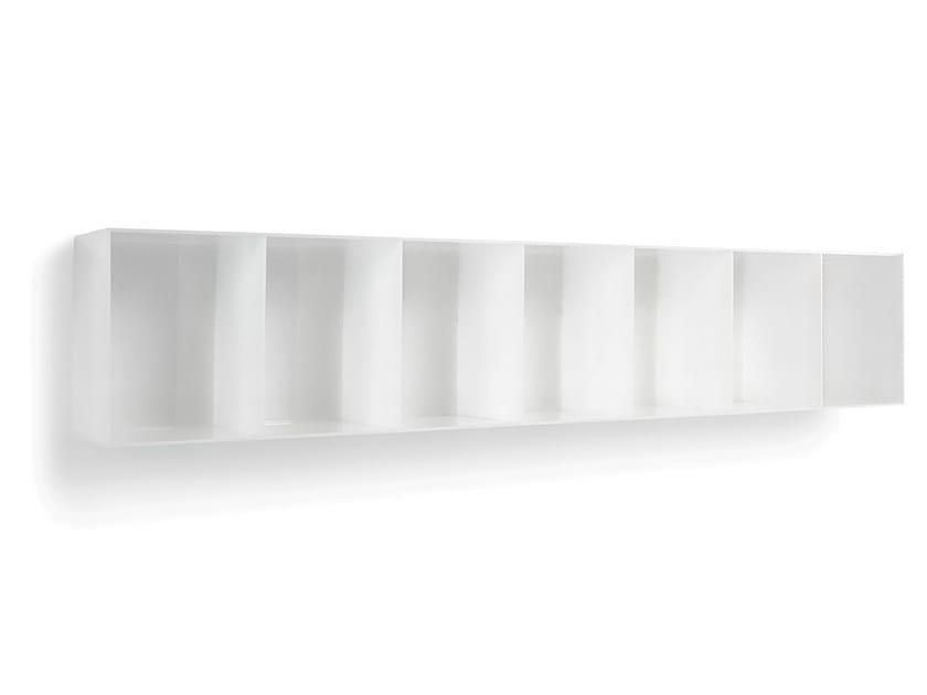 Wall-mounted one-sided salon display unit OPALE WALL 180 - Gamma & Bross