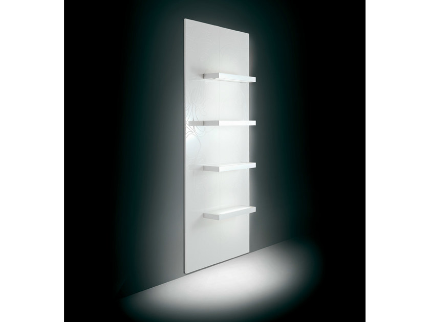 Wall-mounted one-sided salon display unit 2D4M | Retail display unit - Gamma & Bross