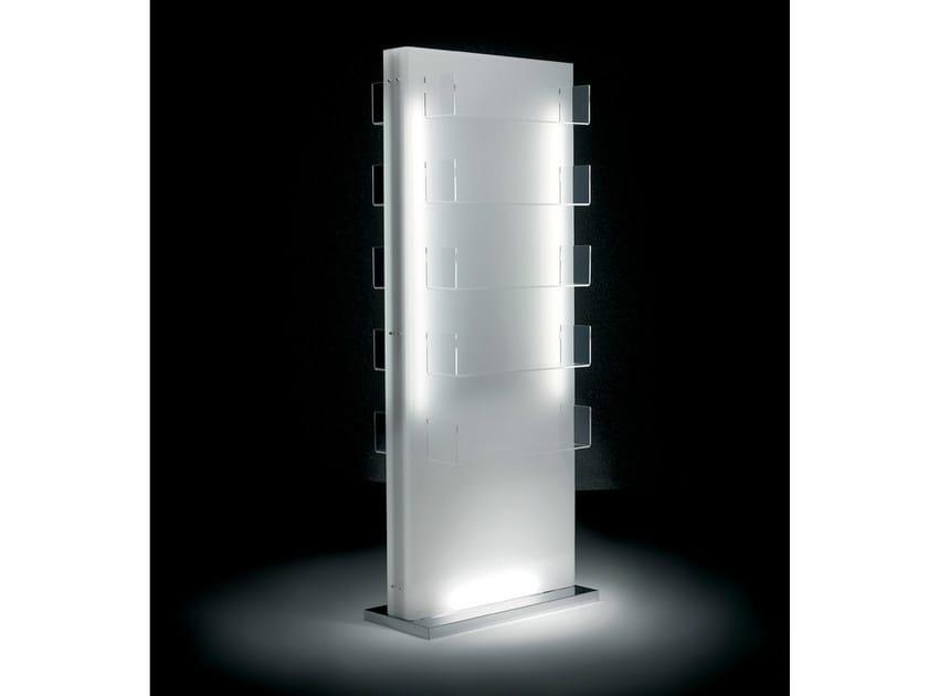 Double-sided salon display unit with light GLOW ISLAND - Gamma & Bross