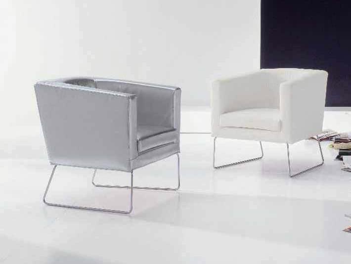 Sled base easy chair KYOTO - Twils