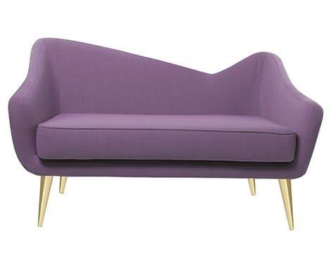 2 seater velvet sofa HAYWORTH - Ottiu