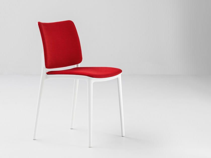 Upholstered fabric chair BLUES XOXO - Bonaldo