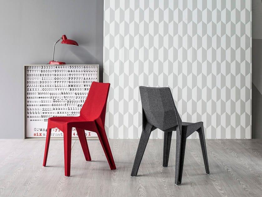 Fabric chair POLY XO - Bonaldo