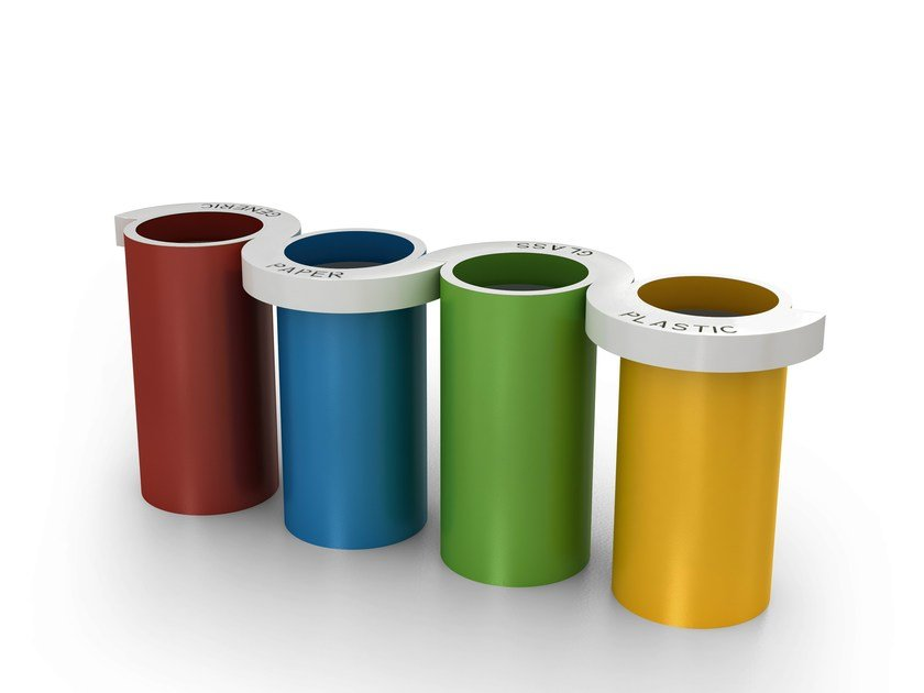 Waste bin for waste sorting ESSE-O - LAB23 Gibillero Design Collection