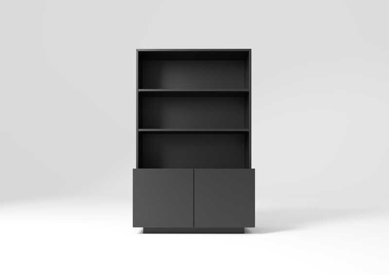 Freestanding wooden office shelving MAST | Office shelving by MASCAGNI