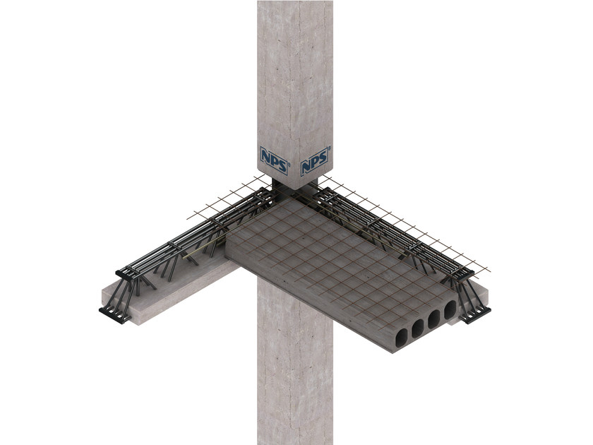 Mixed steel-concrete beam and column NPS® CORE - Tecnostrutture