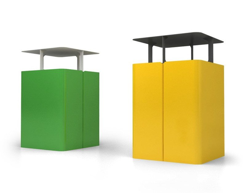 Outdoor waste bin with lid ROMEO by LAB23 Gibillero Design