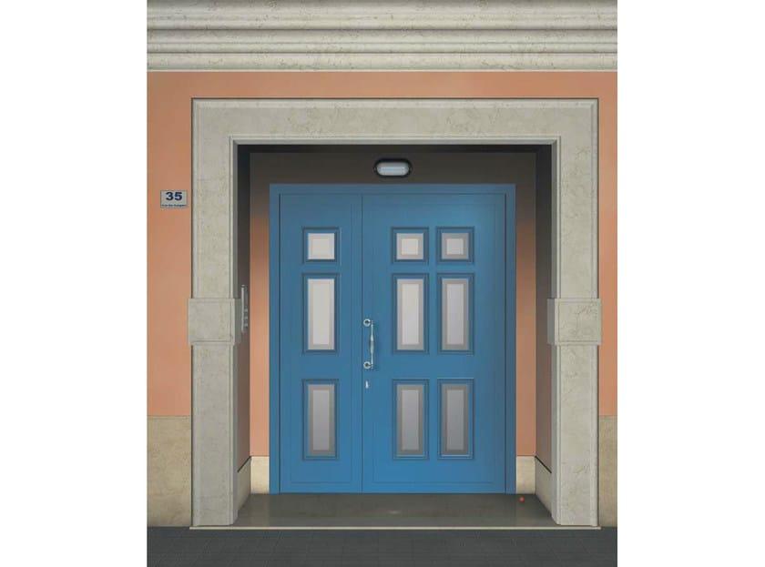 Glass and aluminium door panel MIRA/KS3+MIRA/K6 - ROYAL PAT