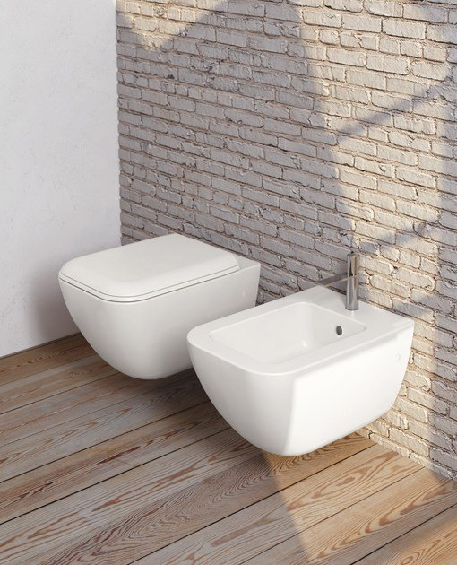 Wall-hung ceramic toilet SHUI COMFORT | Wall-hung toilet by Ceramica Cielo