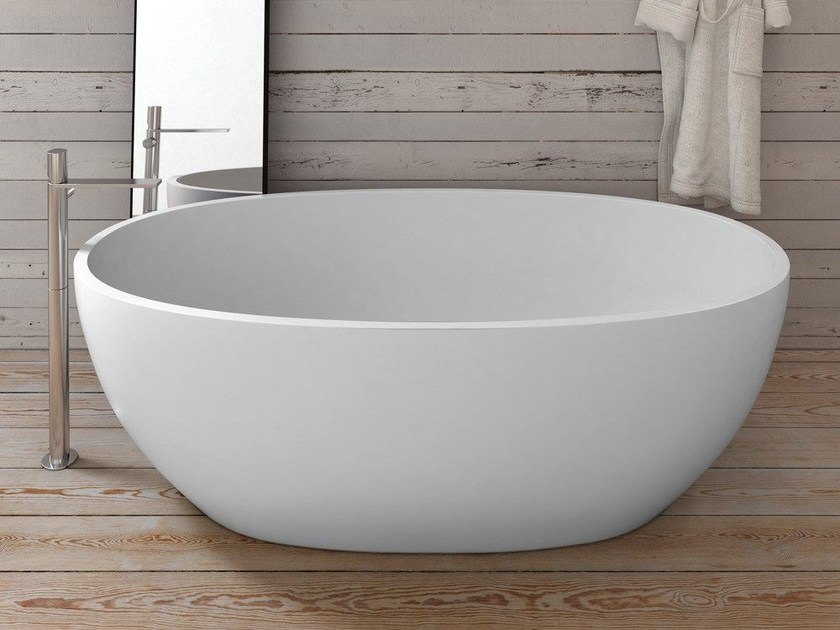 Vasca da bagno centro stanza in Livingtec® SHUI COMFORT  Vasca da bagno - Ceramica Cielo