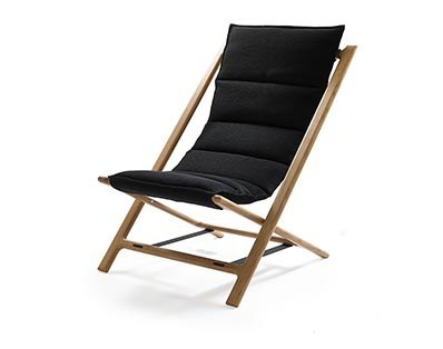 Folding oak deck chair ARENZANO - Woodnotes
