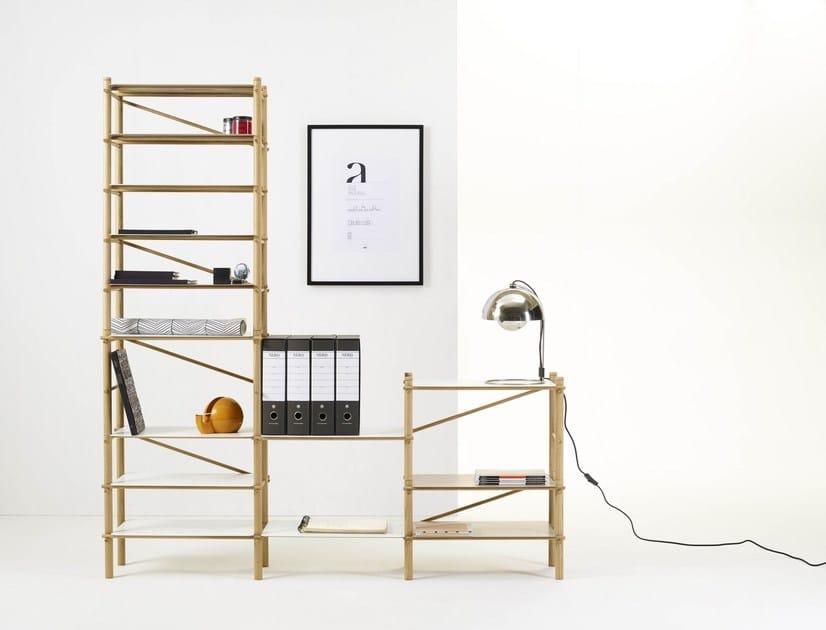 Sectional modular wooden shelving unit ANDAMIO SHELF - Ex.t