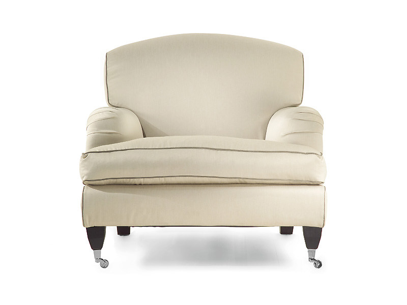 Upholstered armchair with removable cover with armrests GLADIOLUS | Armchair - MARIONI