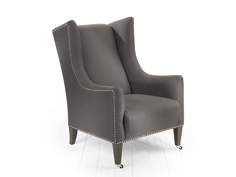 Upholstered fabric armchair with armrests AMARILLIS | Armchair - MARIONI